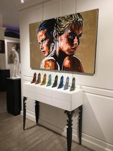 Accumulazioni di scarpe